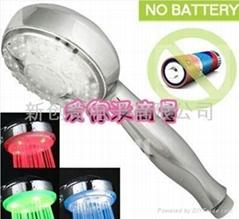 temperature LED shower