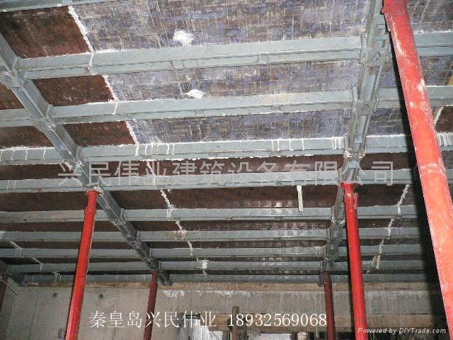 传统模板支撑: 木方,大头柱