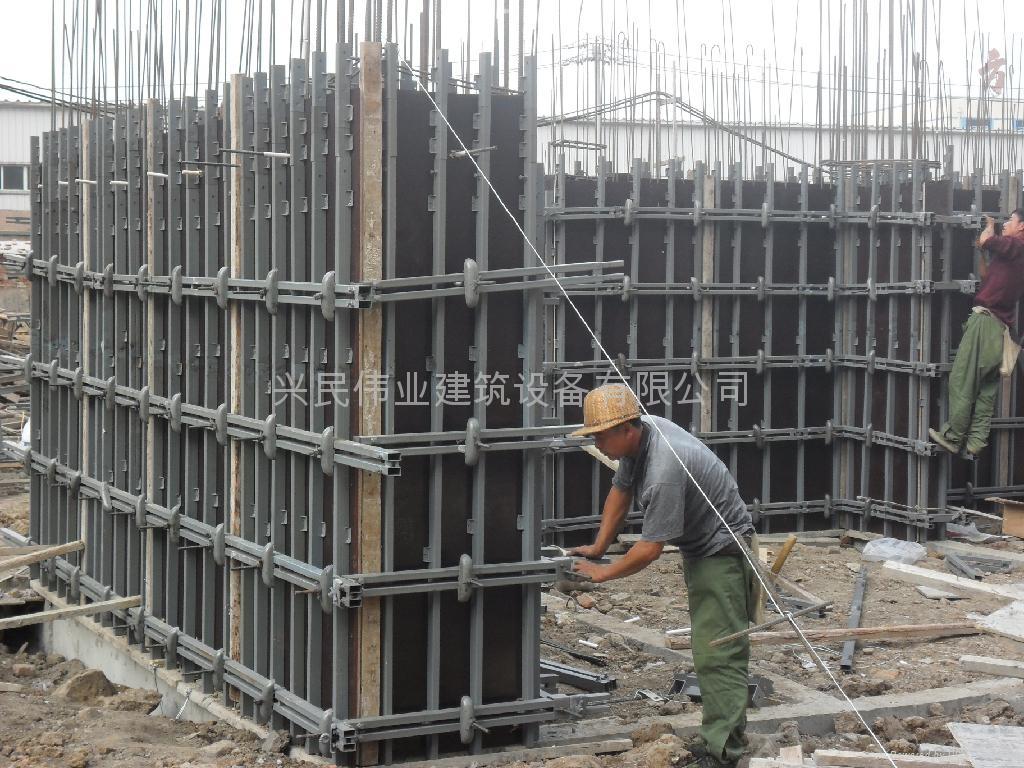 数字化钢性建筑模板支撑组合结构