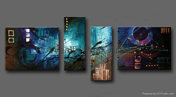 現代抽象裝飾油畫-AB000962 1