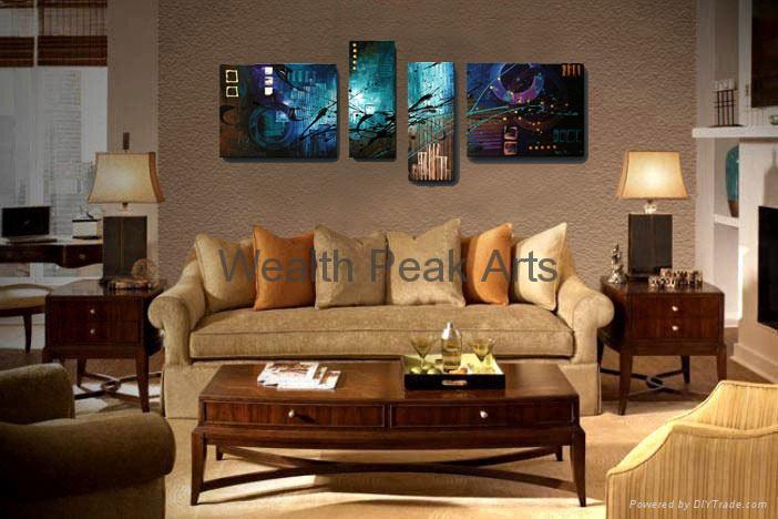 現代抽象裝飾油畫-AB000962 2
