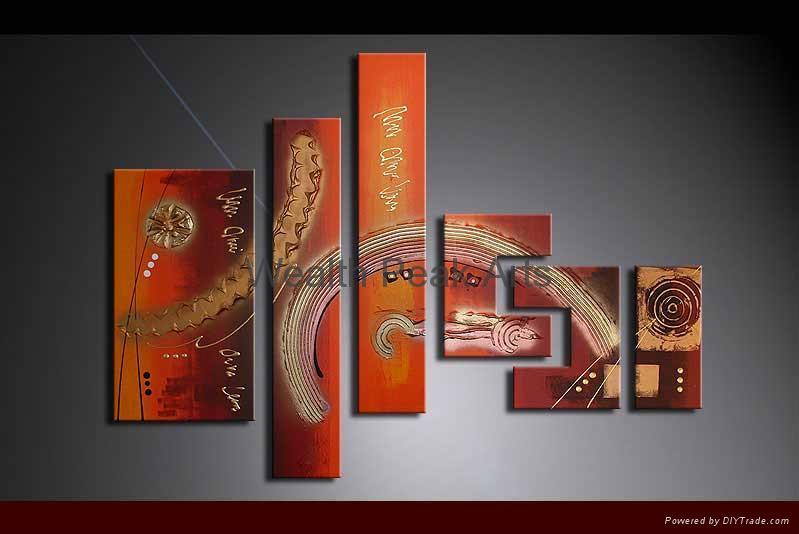家居裝飾抽象油畫-AB001077 1