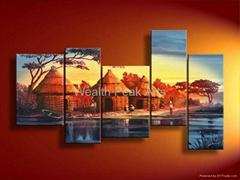 家居酒店装饰风景画-LS000566