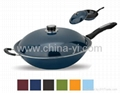 Seven color paint Frying pan