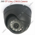 380TV Lines 12LEDs Infrared Night Vision Mini Dome Style Security CCTV Wired COM