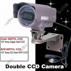 Double CCD IR Waterproof  Sony CCTV Camera with Bracket