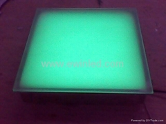 White toughened glass LED Floor Brick