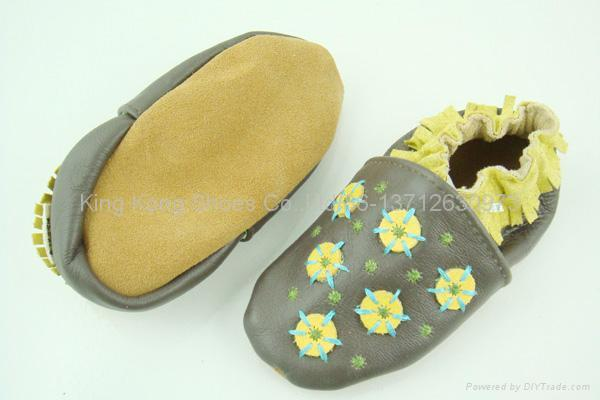 Baby shoes/Infant shoes/Leather baby shoes/Stock shoes 3