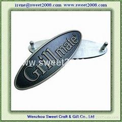 橢圓形高光鋁標牌