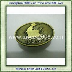 Antique Brass Color Metal Label