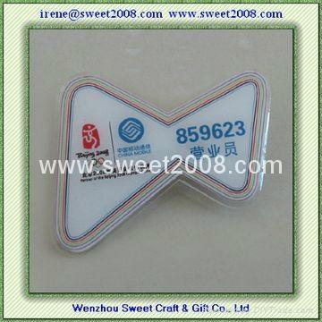 塑料胸牌亚克力PVC材料 3