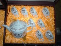 供應9頭骨質瓷瓷器茶具套裝