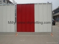 1.8m x2.2m blue white friend city panel Solid Hoarding colorbond Fencing