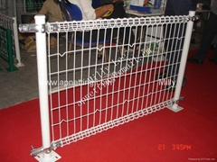High Quality PVC Coated Ornamental Welded Double Loop Fence direct factory