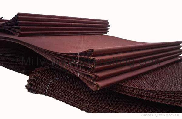 Medium Carbon 65Mn Steel Mesh with hook on end  FLAT TOP Screen Mesh factory