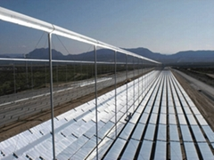 Coated steel tube for Fresnel solar thermal power generation