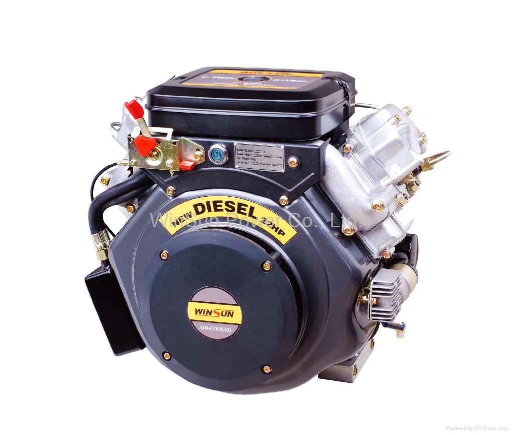 V-twin Air-cooled Diesel Engine (22hp) 1
