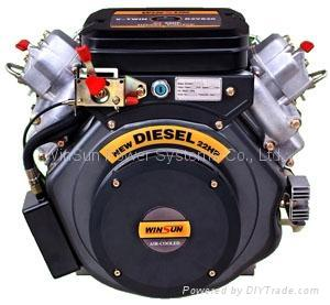 V-twin Air-cooled Diesel Engine (22hp) 2