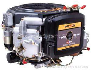 V-twin Air-cooled Diesel Engine (22hp) 3