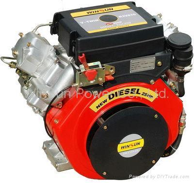 V-twin Air-cooled Diesel Engine (25hp) 1