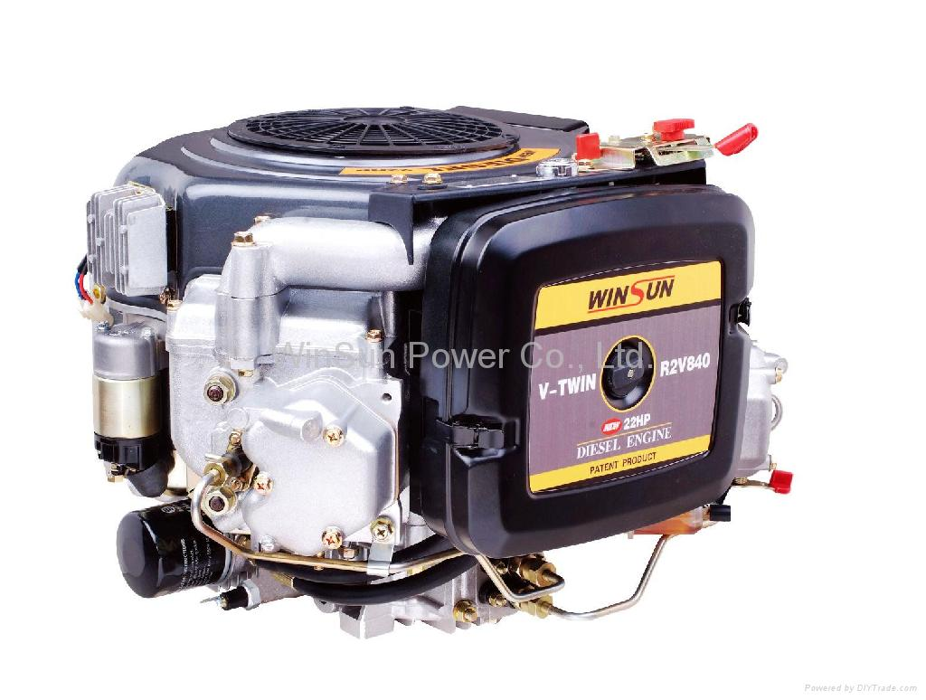 Vertical V-twin Air-cooled Diesel Engine(22hp, 25hp) 1