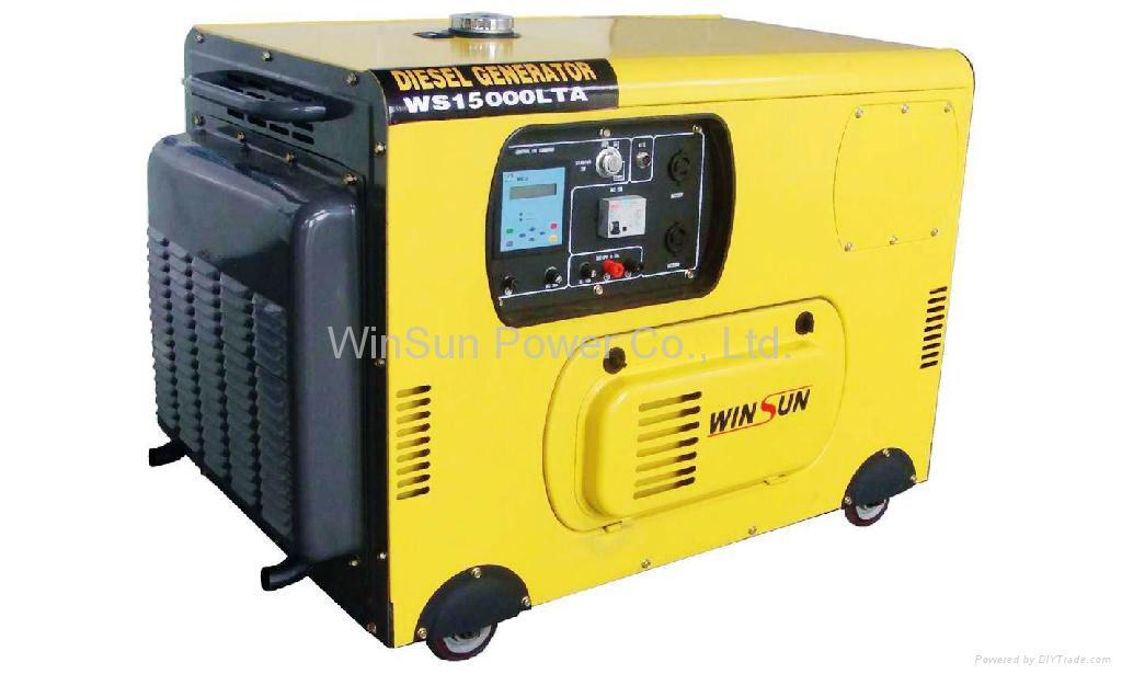 Silent Diesel Generator Sets (8-10KW) - WS12000LTA3