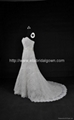 2013 New A line Lace Satin Wedding Dress Bridal Dress With Train NW14354