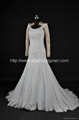 New A line Chiffon  Lace Wedding Dress  With Train NW14355