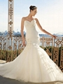 2013 New Sweetheart Mermaid Organza Wedding Dress Bridal Dress
