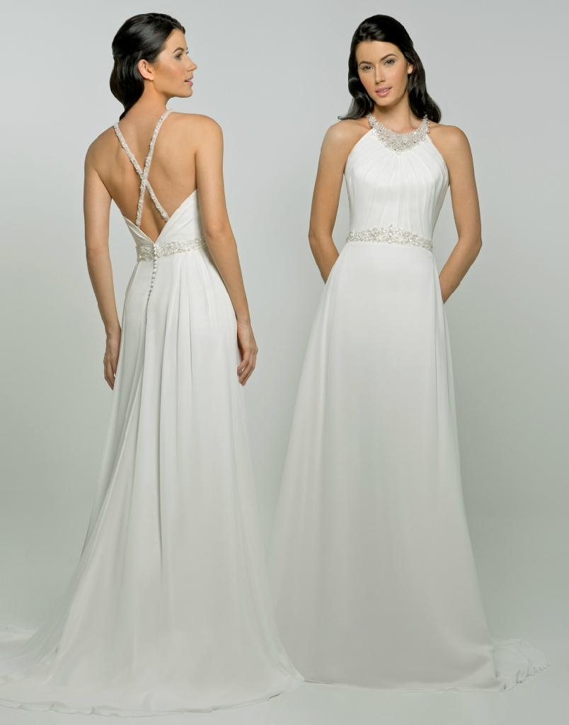 Simple Halter Wedding Dress