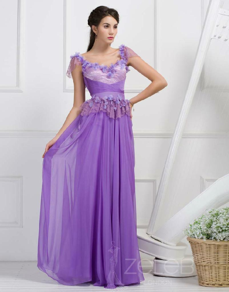 فساتين باللون الليلكي-اجمل الفساتين واروعها 2013_New_Purple_Chif