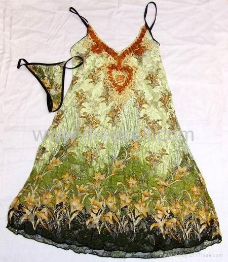 Lady sexy nightwear gown