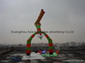 Giant wavy man in the air dancing for Christmas / Xrismas / New year