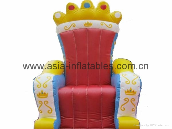 Inflatable furniture / royal chair / for party/event/business activities