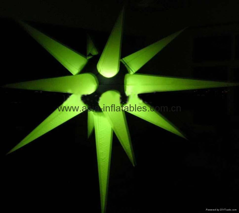 inflatable Tusks/star with angles for indoor party/holiday house decoration