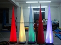 Inflatable cones with LED RGB light for stage decoration in event/party/holiday