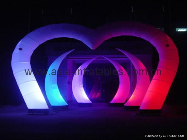 Inflatable arch door with LED for outdoor holiday event/plaza decoration