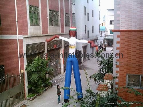 colourful inflatable air sticker / air tube men for holiday/outdoor advertising