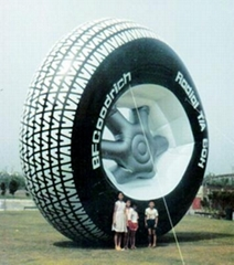 Giant inflatable tyre model with logo printed  for out