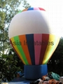 Inflatable colourful stripes balloon for festival and National day celebration