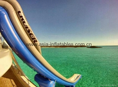 Inflatable Yacht floating Water Slide by Freestyle Cruiser