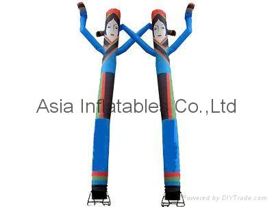 Inflatable Air Character / Fly Guy / AIR tubes in colorful traditional dressing