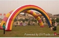 Inflatable archway for business promotion