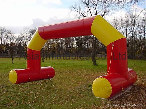 inflatable archway with customized logo for outdoor sports event/ advertising