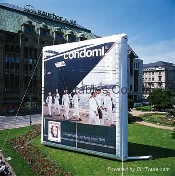 Inflatable billboard for outdoor advertising