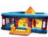 Inflatable jumping castle for children games / No wall, frames only