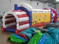 Inflatable Tunnel / US flag design / for outdoor party / backyard / Sports games