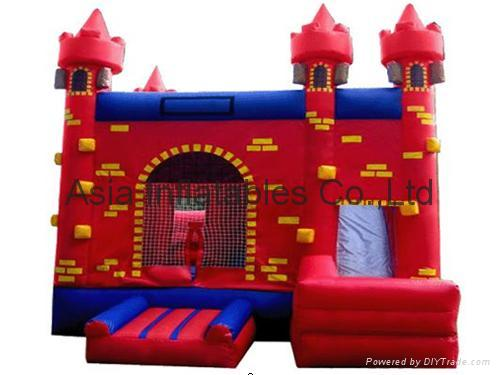 Red color Inflatable jumping castle for children bounce games