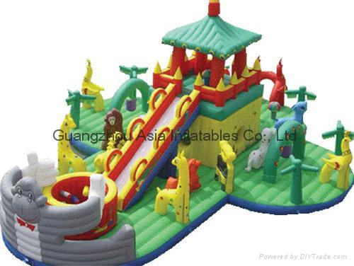 Hot sale Inflatable Fun City / water garden for Aqua parks