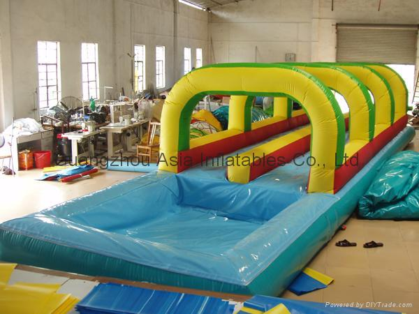 Inflatable Water Slide,n slip water slide with pool